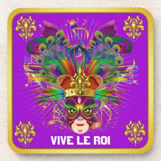 Mardi Gras Party Theme  Please View Notes Beverage Coaster