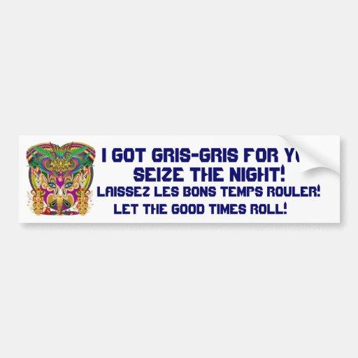 Mardi Gras Party Theme  Please View Notes Car Bumper Sticker