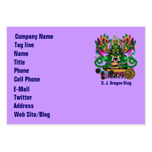 Mardi Gras Party Theme  Please View Notes Large Business Cards (Pack Of 100)