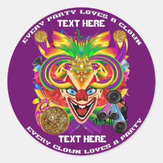 Mardi Gras Party Theme  Please View Notes Classic Round Sticker