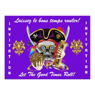 Mardi Gras Party Theme  Please View Notes 6.5x8.75 Paper Invitation Card