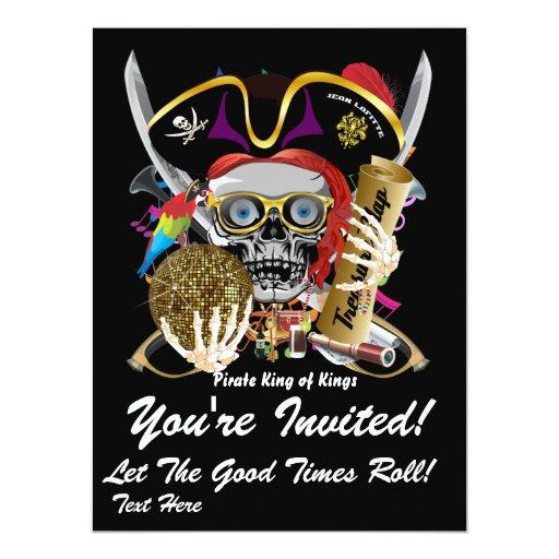 "Mardi Gras Party Theme  Please View Notes 6.5"" X 8.75"" Invitation Card"