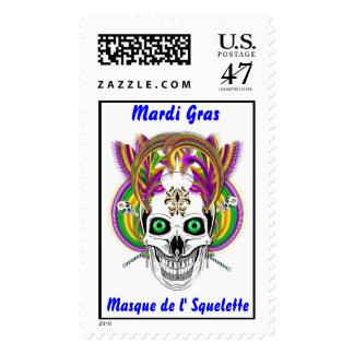 Mardi Gras Party Theme  Please View Notes Postage Stamp