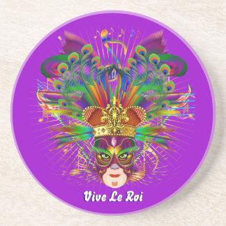 Mardi Gras Party Theme  Please View Notes Sandstone Coaster
