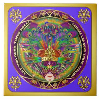 Mardi Gras Party Theme Please View Notes Ceramic Tile