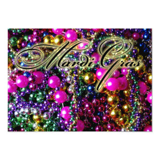 "Mardi Gras Party ""throws"" invitation template"