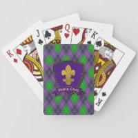 Mardi Gras Pattern mardi-gras Playing Cards