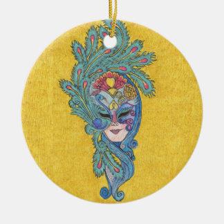 Mardi Gras Peacock Mask 2011 Ornament