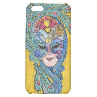 Mardi Gras Peacock Mask iPhone4 Case Cover For iPhone 5C
