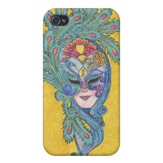 Mardi Gras Peacock Mask iPhone4 Case iPhone 4/4S Covers
