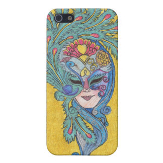 Mardi Gras Peacock Mask iPhone4 Case iPhone 5 Covers