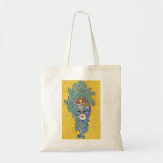 Mardi Gras Peacock Mask Tote Bag