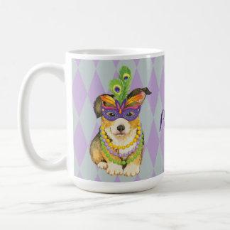 Mardi Gras Pembroke Welsh Corgi Coffee Mug