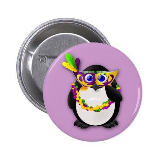 Mardi Gras Penguin Pins