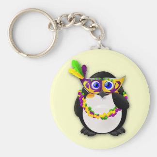 Mardi Gras Penguin Keychain