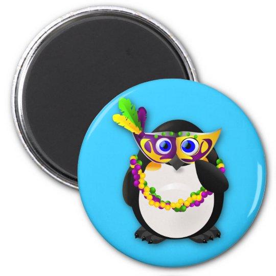Mardi Gras Penguin Magnet