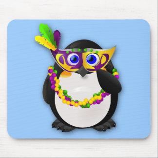Mardi Gras Penguin Mouse Pads