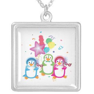 Mardi Gras Penguins Necklace