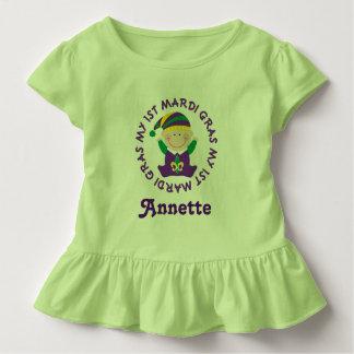Mardi Gras Personalized Toddler T-shirt Tee