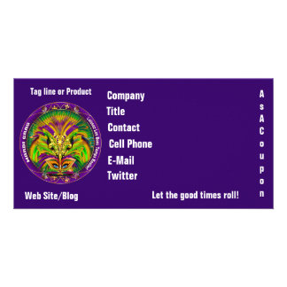 Mardi Gras Photo Business View Notes Please Card