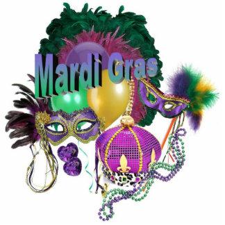 Mardi Gras Pin Photo Cut Outs