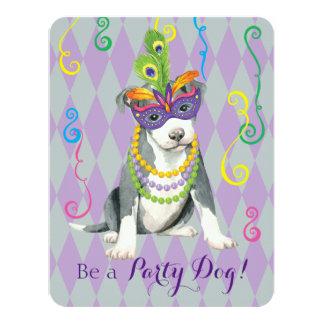 Mardi Gras Pit Bull Terrier Card