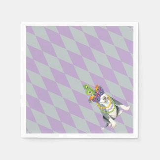 Mardi Gras Pit Bull Terrier Paper Napkin