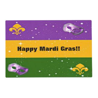 Mardi Gras Placemat w/mask and fleur de lis