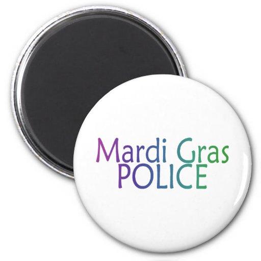 Mardi Gras Police 2 Inch Round Magnet