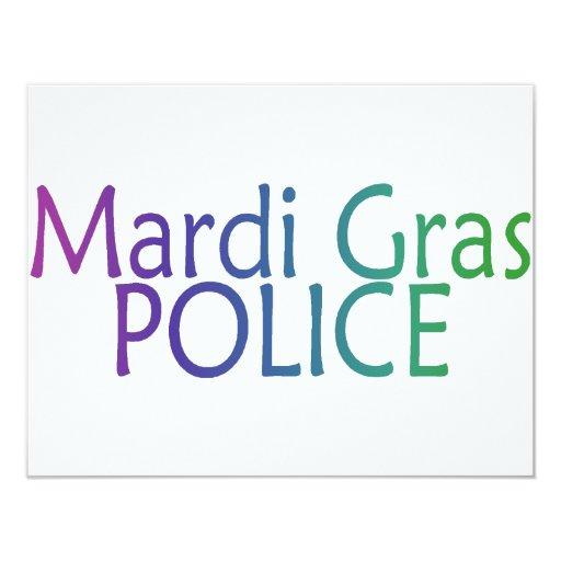 Mardi Gras Police 4.25x5.5 Paper Invitation Card