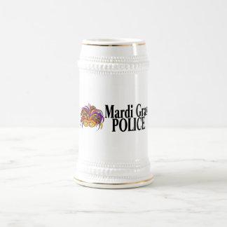 Mardi Gras Police Mask Beer Stein