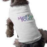 Mardi Gras Police Pet Tshirt