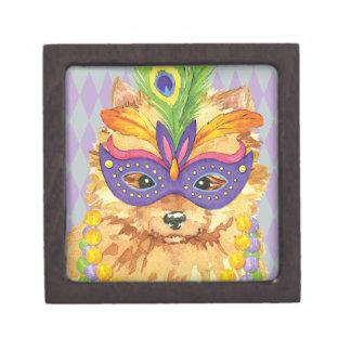 Mardi Gras Pomeranian Gift Box