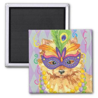 Mardi Gras Pomeranian Magnet