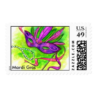 Mardi Gras Postage Stamps