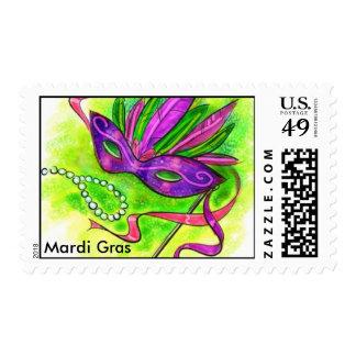 Mardi Gras Postage Stamp