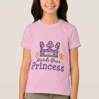 Mardi Gras Princess Kids Ringer T shirt