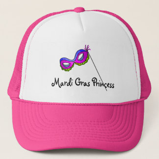 Mardi Gras Princess Mask Trucker Hat