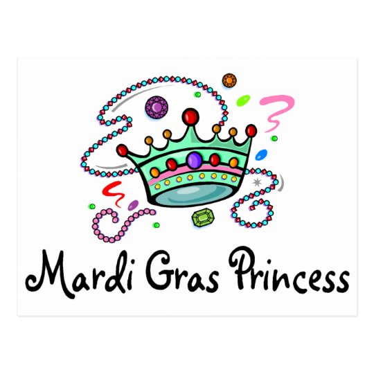 Mardi Gras Princess Postcard
