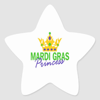 MARDI GRAS PRINCESS STAR STICKER