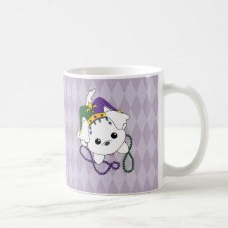 Mardi Gras Puppy Classic White Coffee Mug