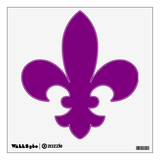 Mardi Gras Purple Fleur De Lis Wall Sticker Part 87