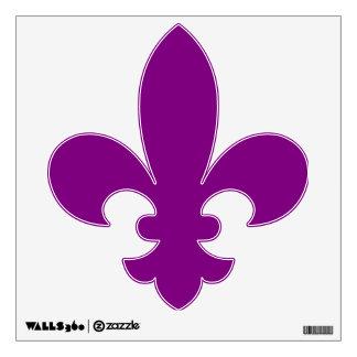 Mardi Gras Purple Fleur de Lis Wall Stickers