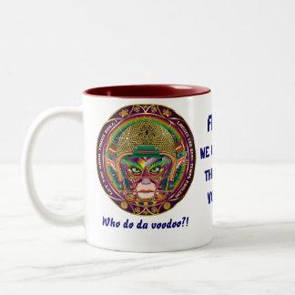 Mardi Gras Quarterback Please view notes Two-Tone Coffee Mug