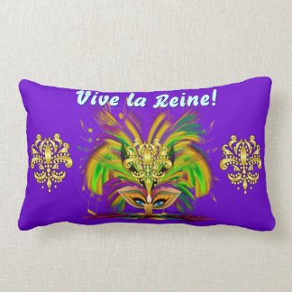 Mardi Gras Queen 1 and King 2 View About Throw Pillows