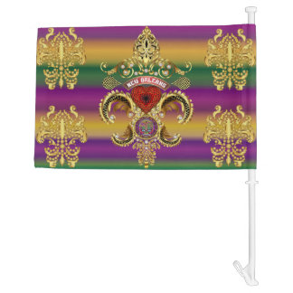 Mardi Gras Queen 1 HOT Read my Description Below Car Flag