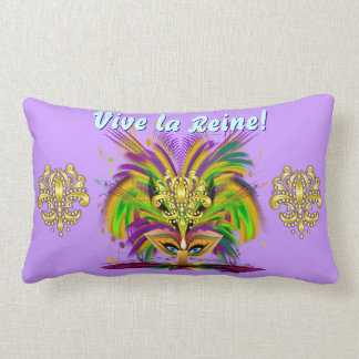 Mardi Gras Queen 1 Important Read About Design Lumbar Pillow
