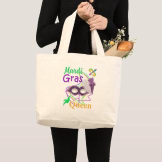 Mardi Gras Queen 2018 Large Tote Bag