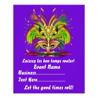 "Mardi Gras Queen 4.5"" x 5.6"" View Notes Please Flyer"