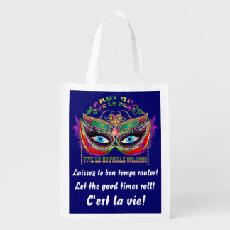 Mardi Gras Queen 5 Read About Design Below Reusable Grocery Bag